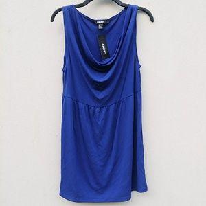 NWT DKNY Royal Blue Tunic Dress